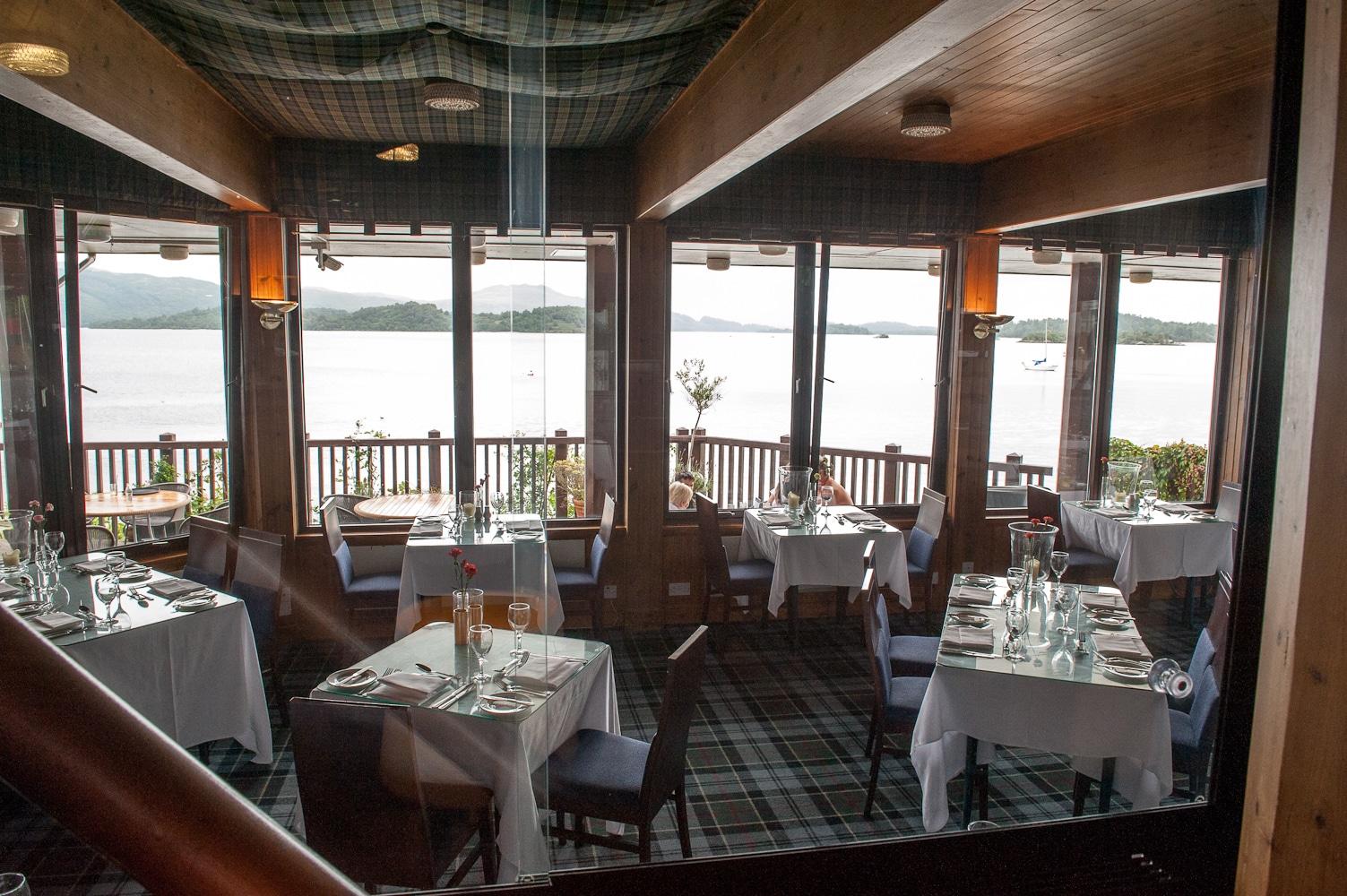 Lodge on Loch Lomond Restauarnt View over Loch Lomond Interior