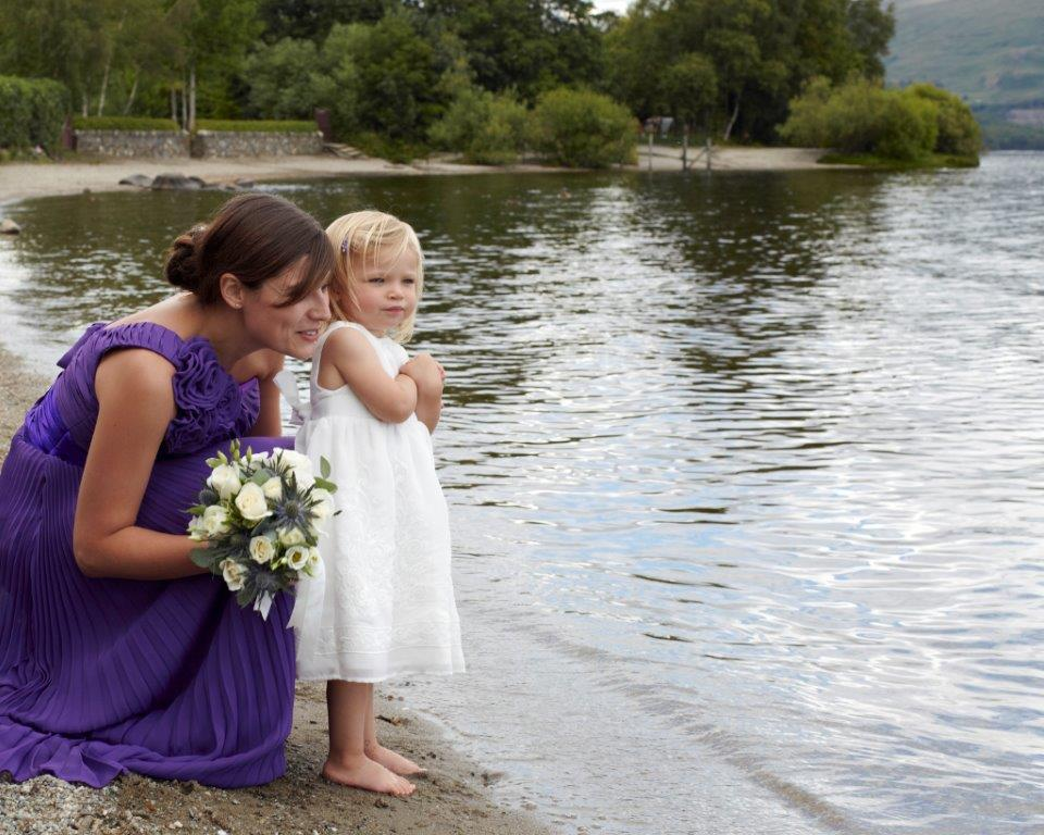 Wedding at Lodge on Lomond mother and daughter