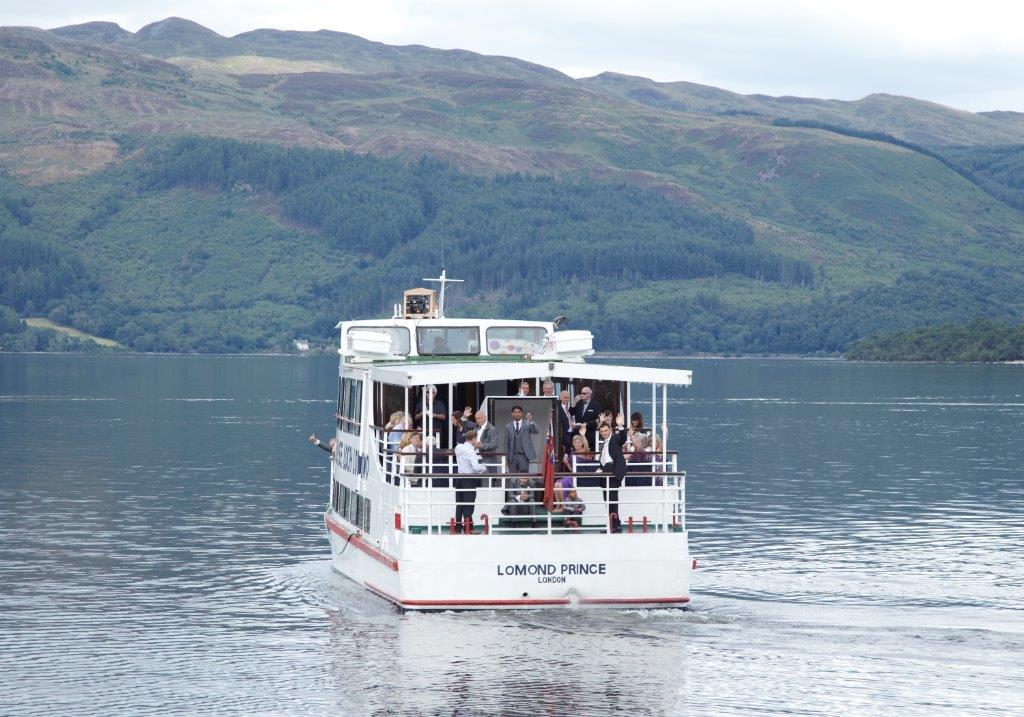 Lodge on Loch Lomond boat cruise across Loch Lomond