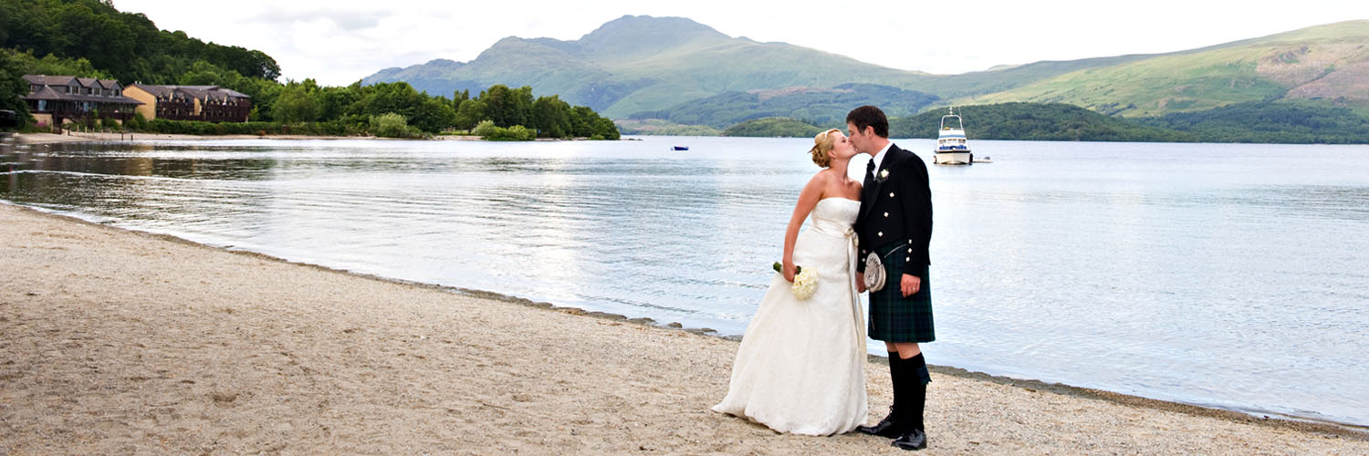 Lodge on Loch Lomond Wedding Outdoor View over Loch Lomond Shores