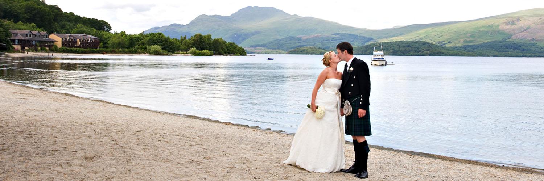 Lodge on Loch Lomond Wedding Outdoor View over Loch Lomond Shores