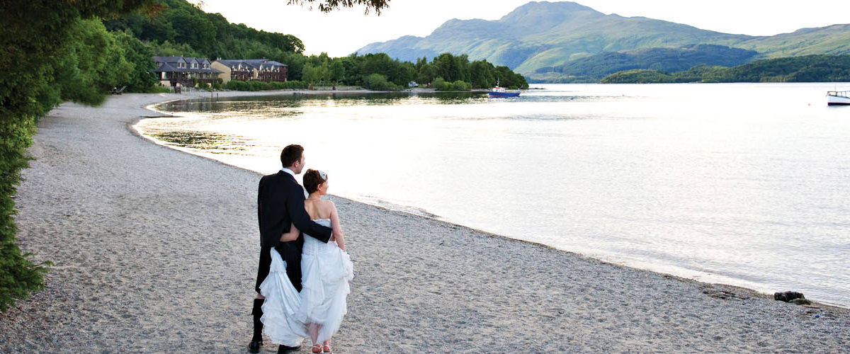 Lodge on Loch Lomond Wedding Outdoor Setting