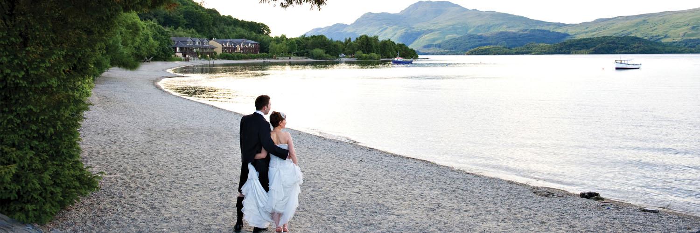 Lodge on Loch Lomond Wedding Outdoor Setting