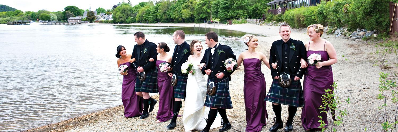 Lodge on Loch Lomond Wedding Walk