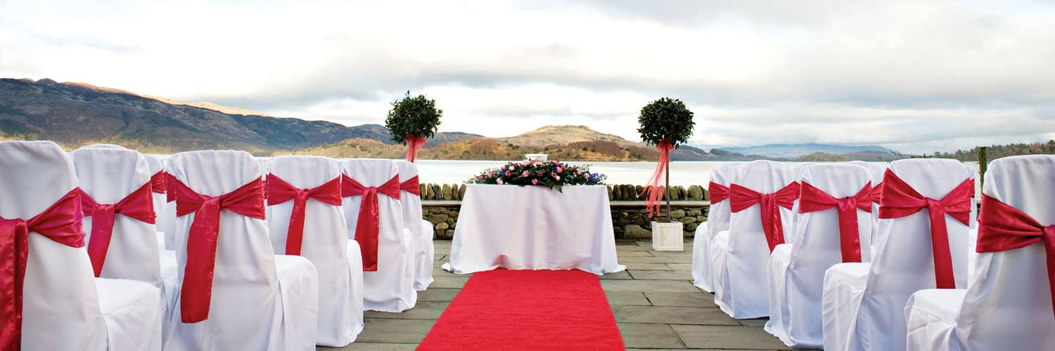 Lodge on Loch Lomond Wedding Outdoor Setup
