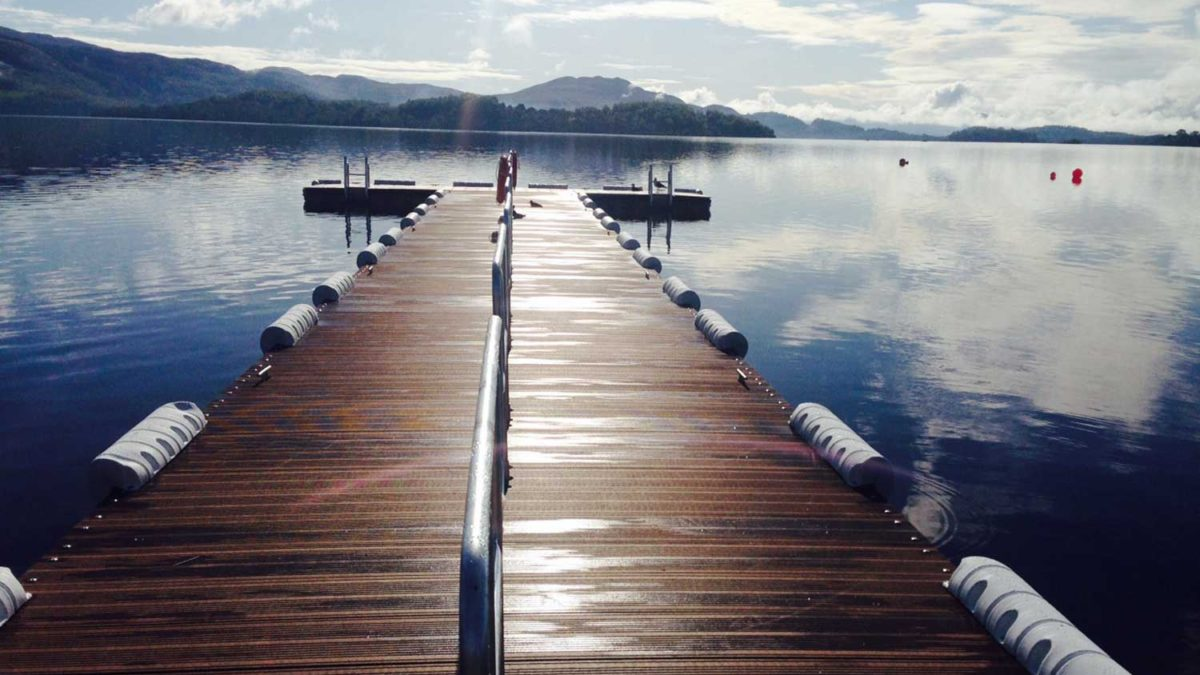 Loch Lomond Jetty at Lodge on Loch Lomond Wedding View of Jetty