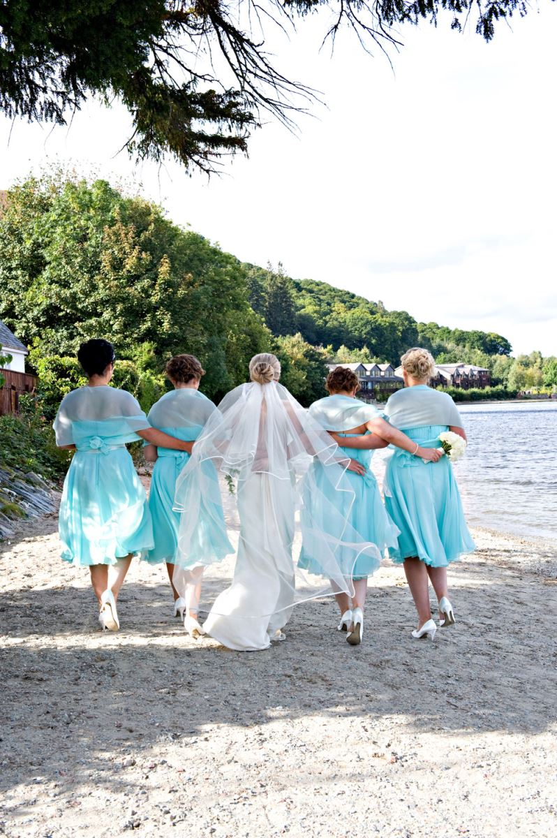 Wedding Beach Walk at Lodge on Loch Lomond