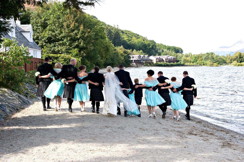 Wedding Beach Walk Loch Lomond