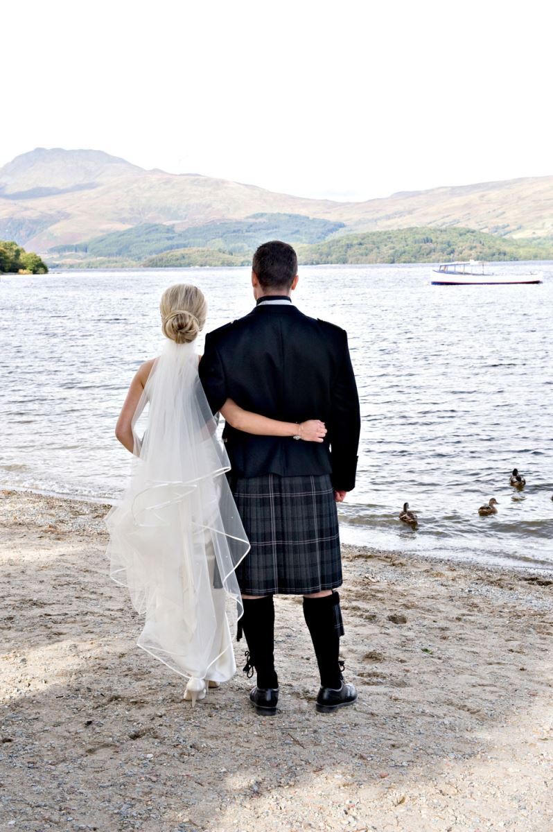 Wedding Beach View at Lodge on Loch Lomond