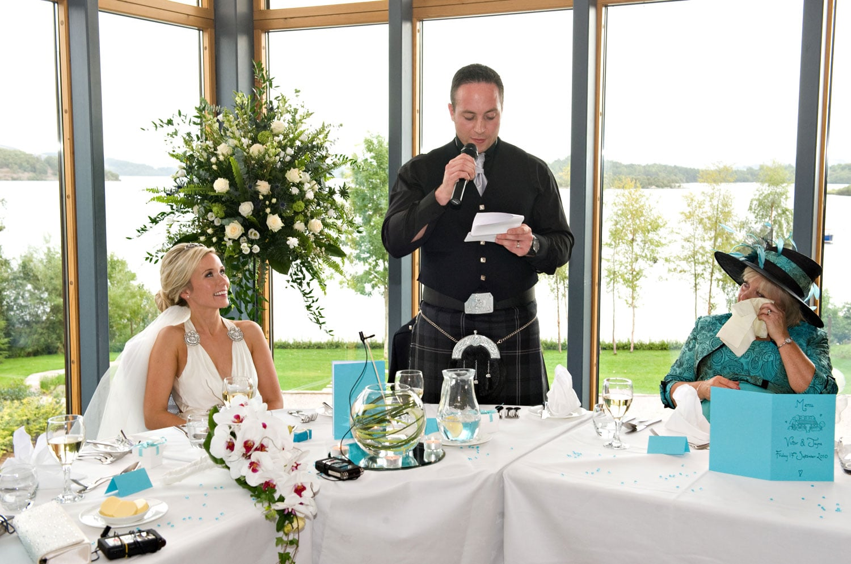 Wedding Speech at Lodge on Loch Lomond