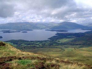 View across Loch Lomond from Glen Luss Horseshoe
