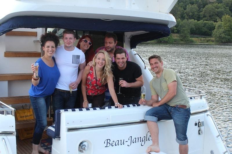 Beau Jangles Boat Loch Lomond with Friends