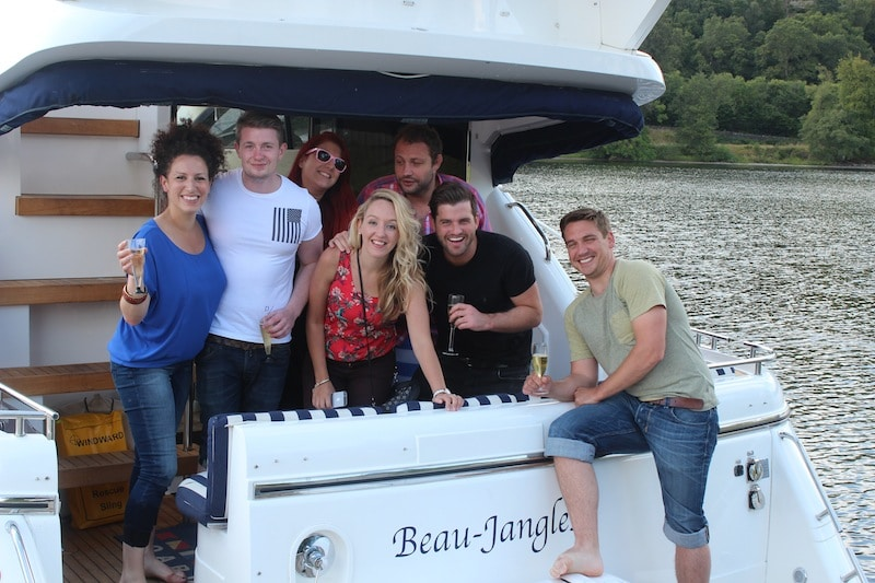 Beau Jangles Boat Loch Lomond with Friends
