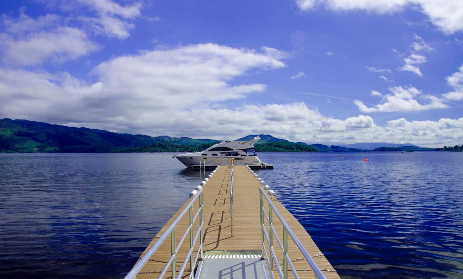 Loch Lomond Jetty at Lodge on Loch Lomond