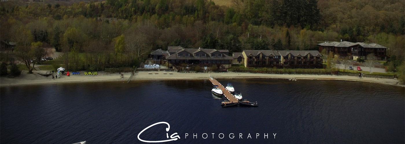 Loch pn Loch Lomond Aerial photo by CIA Photography