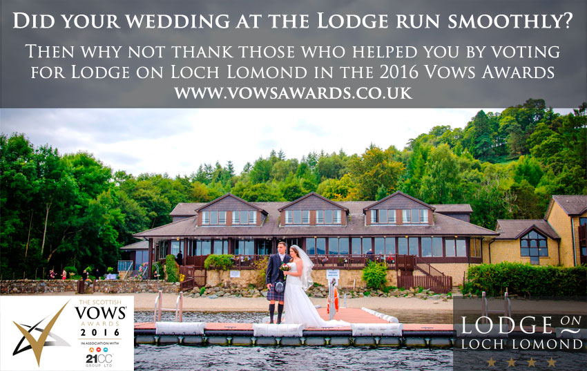 Nominate the Lodge on Loch Lomond for the Vows Awards 2016