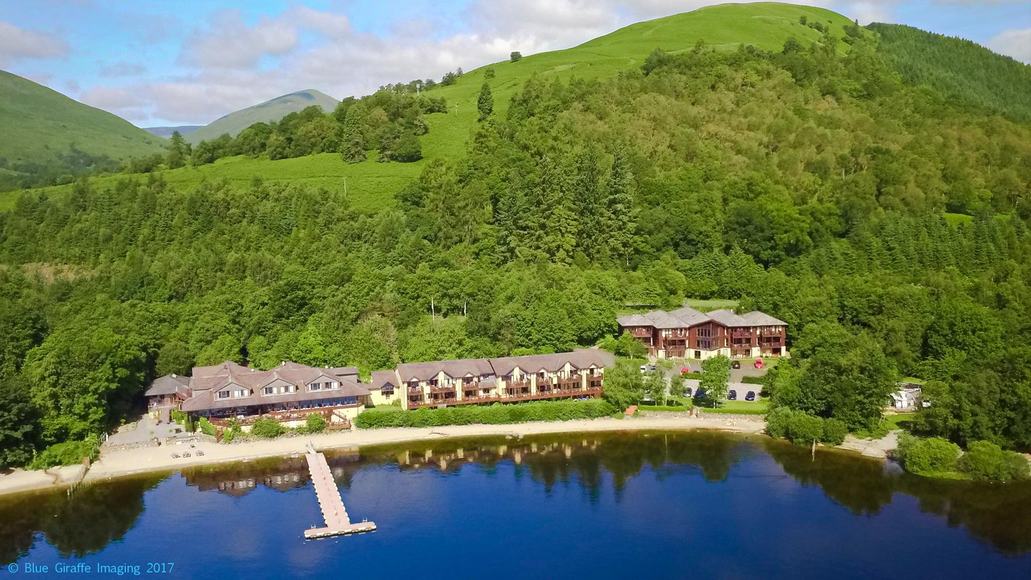 Lodge on Loch Lomond Aerial Photo