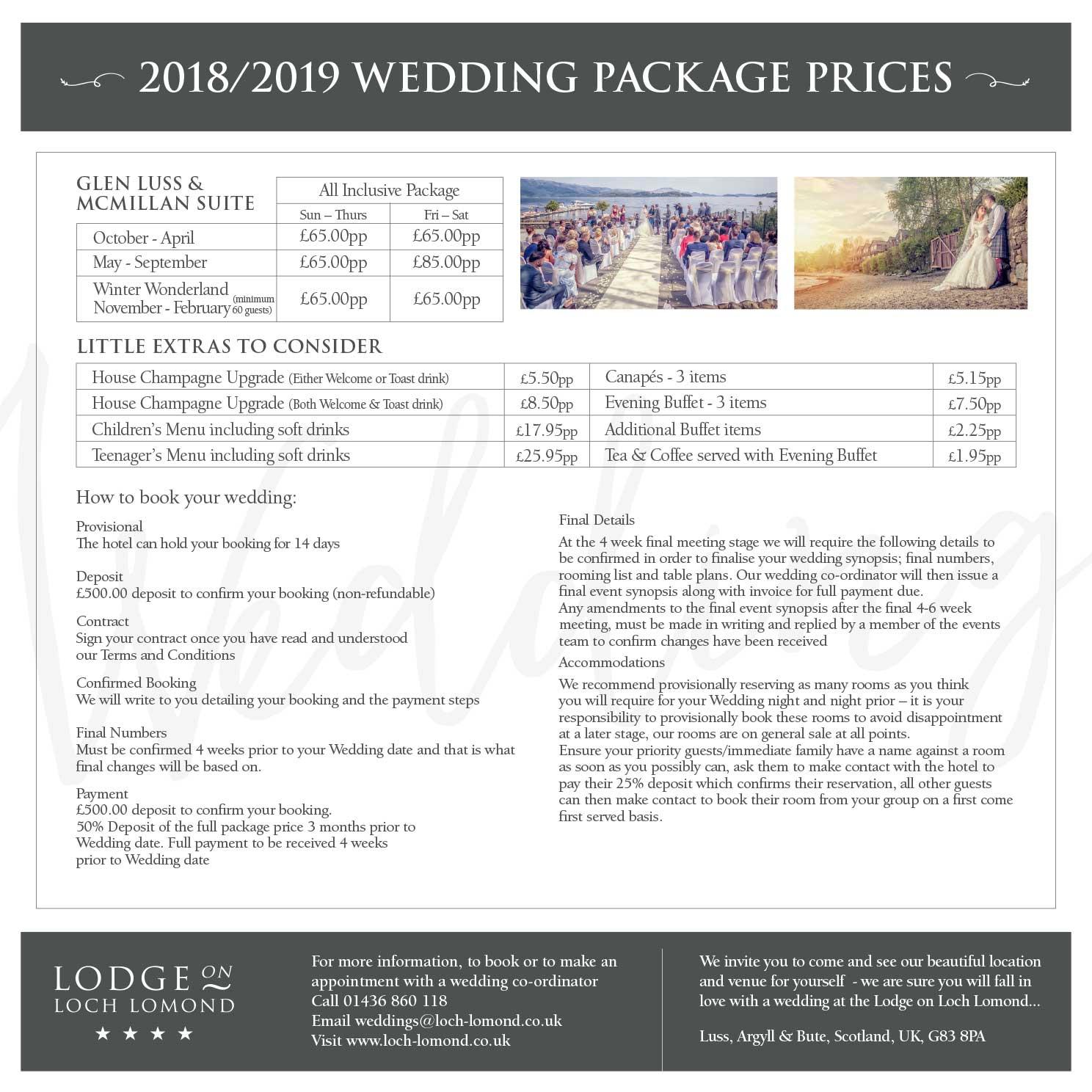 Wedding deals 2018 scotland