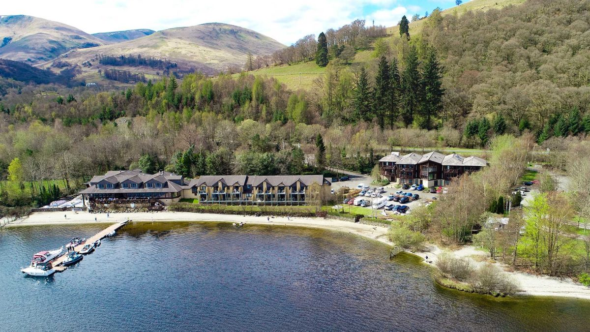 Lodge on Loch Lomond Drone Photo