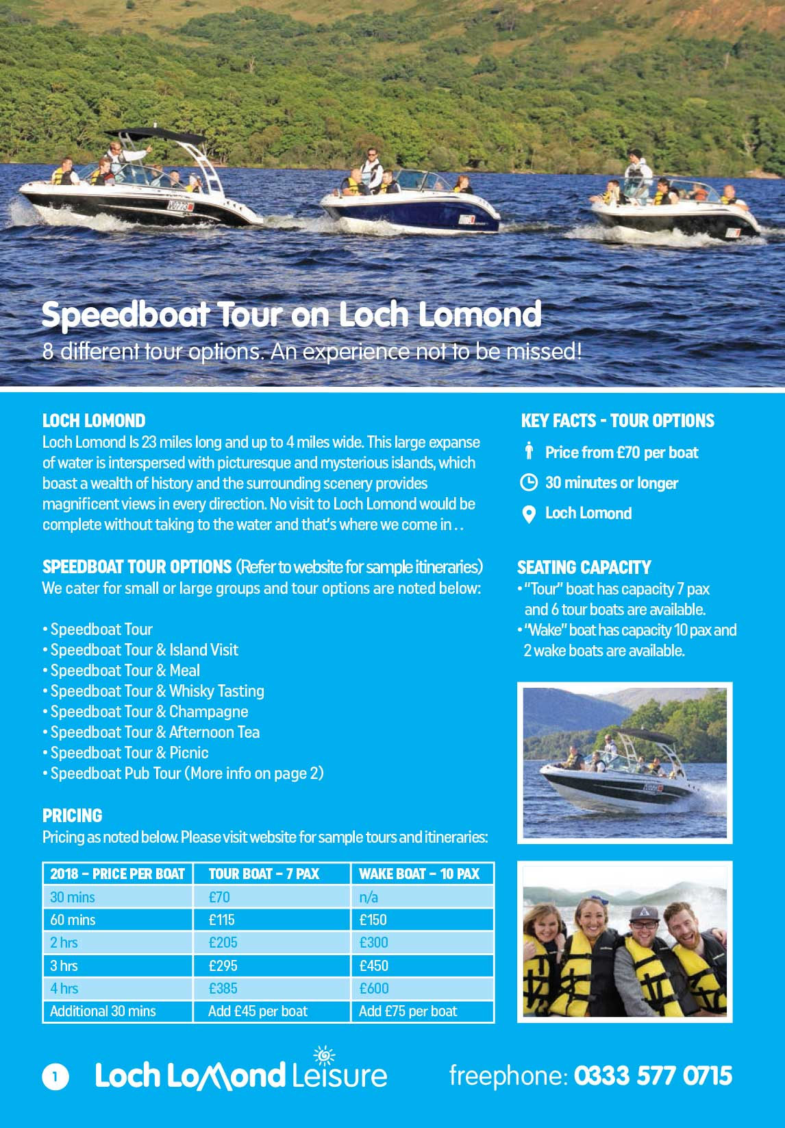Loch Lomond Leisure 2018 Booklet