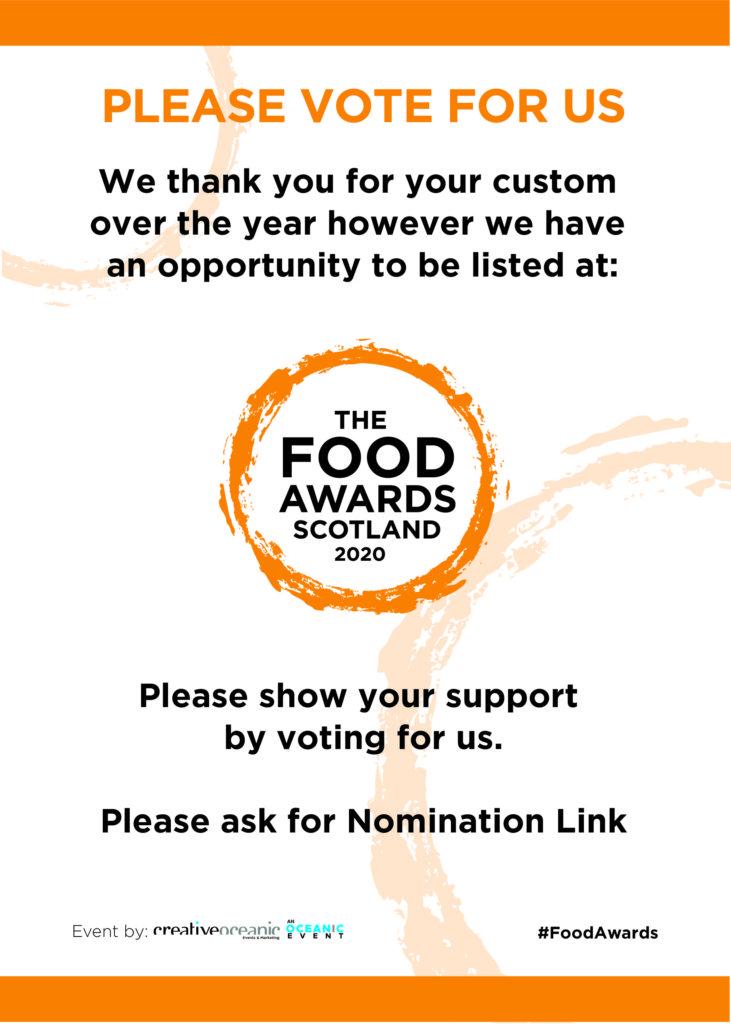 Please vote for Colquhouns Restaurant